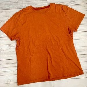 banana republic mens xl fitted crew t-shirt orange
